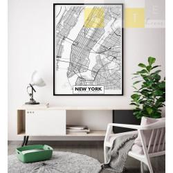 """""""Mapa Nova Iorque"""" Quadro..."""