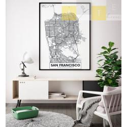 """Mapa San Francisco"" Quadro..."