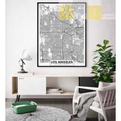 """""""Mapa Los Angeles"""" Quadro..."""