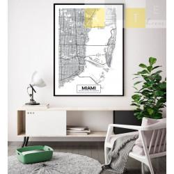 """""""Mapa Miami"""" Quadro de..."""