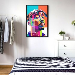 """""""Tupac"""" Quadro de decoração"""