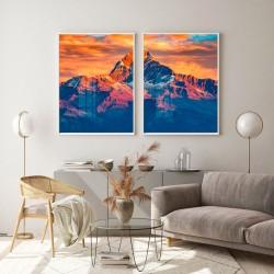 """""""Por do sol nas montanhas""""..."""