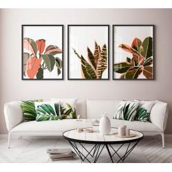 """""""Trio de folhas coloridas""""..."""