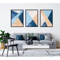 """""""Trio Azul abstrato""""..."""