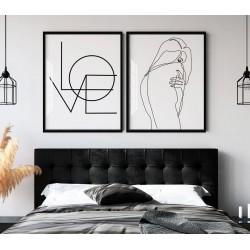 """Love arte linear"" Conjunto..."