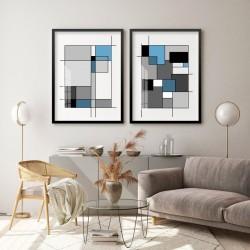 """""""Abstrato Preto e Azul""""..."""