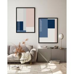 """""""Abstrato Rosa e Azul""""..."""