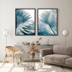 """""""Folhas de Palmeira - Azul""""..."""