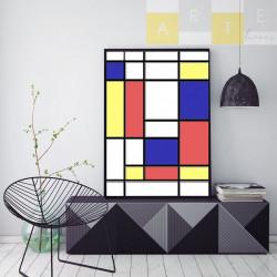 """""""Mondrian"""" Quadro de decoração"""