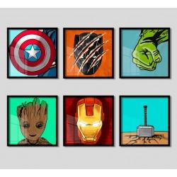 """""""Super Heróis"""" Conjunto de..."""