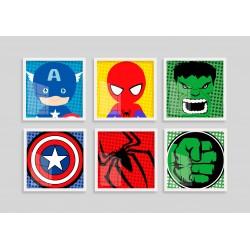 """""""Super Heróis II"""" Conjunto..."""