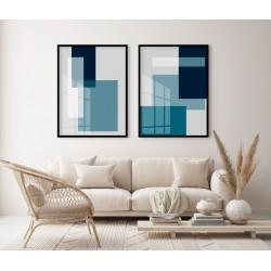 """""""Abstrato Azul Petróleo""""..."""