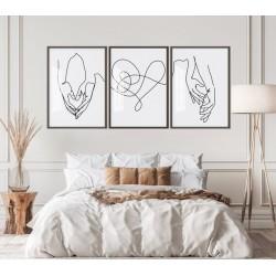 """Trio casal minimalista""..."
