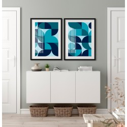 """Abstrato Geométrico Azul""..."