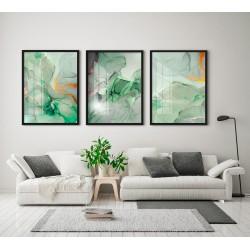 """""""Trio mármore verde folha""""..."""