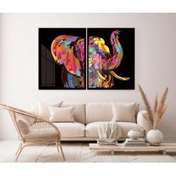 """""""Elefante pintura colorida""""..."""