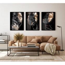 """""""Trio mulher negra dourado""""..."""