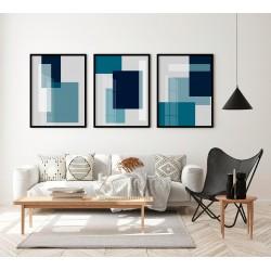 """""""Trio abstrato azul..."""