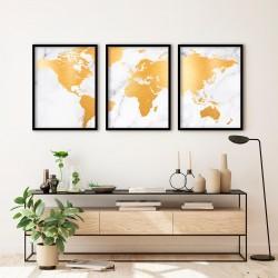 """""""Mapa dourado no mármore""""..."""