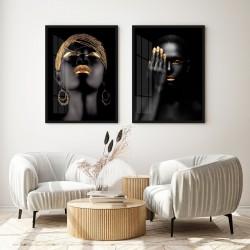"""""""Dupla mulher negra dourado..."""